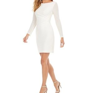 Vince Camuto White Sequined Sheath Dress